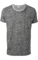 Saint Laurent T-shirt Grigio - Lyst