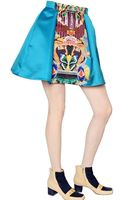 Mary Katrantzou Totem Printed Double Satin Mini Skirt - Lyst
