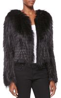 Burberry London Collarless Fox Fur Jacket - Lyst