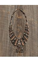 Free People Vintage Beaded Fringe Necklace - Lyst