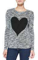 Autumn Cashmere Heart Tweed Pattern Cashmere Sweater - Lyst