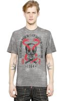 DSquared2 Skull Snakes Printed Cotton Tshirt - Lyst