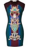Mary Katrantzou Wool Blend Sheath Dress - Lyst