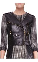 Versace Leather Dress with Woven Center Panel - Lyst