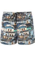 Paul Smith Holiday-print Swim Shorts - Lyst