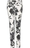 Mango Premium Floral Trousers - Lyst