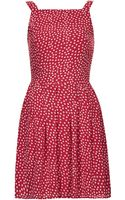 Topshop Polka Dot Chiffon Dress - Lyst