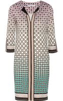 Diane Von Furstenberg Rose Printed Silkjersey Dress - Lyst