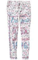 Gap Floral Statement Always Skinny Skimmer Jeans - Lyst