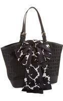 DKNY Logo Patterned Shopper Bag - Lyst