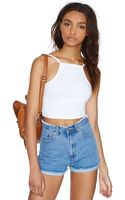 Nasty Gal Damsel in Distressed Cutoffs - Lyst