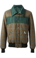 Dolce & Gabbana Checked Panel Bomber Jacket - Lyst