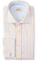 Ted Baker Blue  Orange Stripe Classic Fit French Cuff Dress Shirt - Lyst