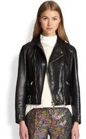 3.1 Phillip Lim Leather Sculpted Moto Jacket - Lyst