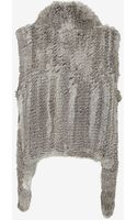 Yves Salomon Asymmetric Fur Vest Grey - Lyst