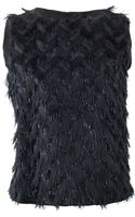 Lanvin Feather Front Top - Lyst