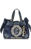 Juicy Couture Ornate Monogram Velour Mini Daydreamer Satchel - Lyst