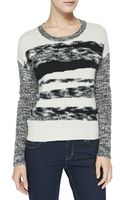 Autumn Cashmere Mixed-yarn Cashmere Knit Sweater - Lyst