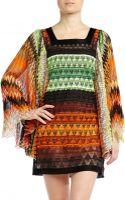Missoni Square Neck Printed Dress - Lyst