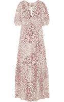 Vilshenko Yvette Printed Silk-crepe Maxi Dress - Lyst