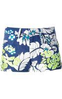 P.a.r.o.s.h. Floral Print Shorts - Lyst