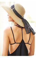Urban Outfitters Femme Tieback Straw Hat - Lyst