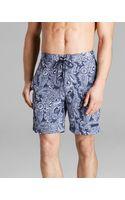 Michael Kors Paisley Print Swim Trunks - Lyst
