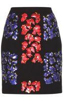 Peter Pilotto Lex Embellished Wool Skirt - Lyst