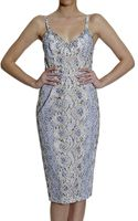 Ermanno Scervino Dresses Braces Lace Print Python Print with Strass - Lyst
