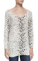Joie Brooklyn Vneck Leopardprint Sweater - Lyst