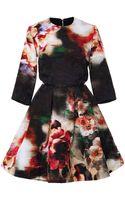 Elie Saab Floral Brocade Short Dress - Lyst