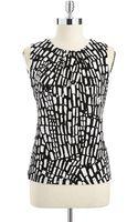 Calvin Klein Pintucked Sleeveless Top - Lyst