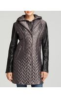 Dawn Levy Sly Ii Quilted Coat with Leather Sleeves - Lyst