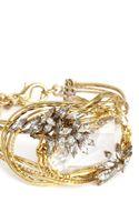 Erickson Beamon Cosmic Code Swirl Wire Crystal Bracelet - Lyst