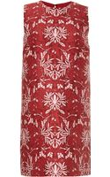 Mother Of Pearl Franklin Printed Cottonblend Shift Dress - Lyst
