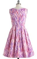 ModCloth Chalk Of The Town Dress - Lyst