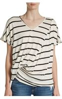 Elizabeth And James Denver Striped Twist Tee - Lyst