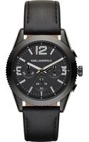 Karl Lagerfeld Watches Kurator Leather-strap Watch - Lyst