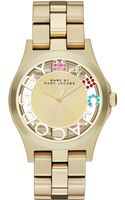 Marc By Marc Jacobs Womens Henry Skeleton Goldtone Stainless Steel Bracelet 40mm - Lyst