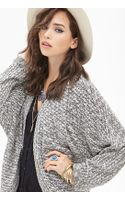 Forever 21 Open-front Dolman Cardigan - Lyst