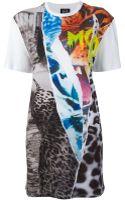 McQ by Alexander McQueen Multi Print Tshirt Dress - Lyst