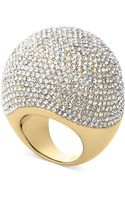 Michael Kors Goldtone Pave Bubble Ring - Lyst