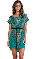 Vix Lora Short Dress Xingu in Green - Lyst