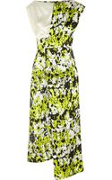 Michael Van Der Ham Printed Silk-cloquã Dress - Lyst