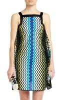 Missoni Zigzag Color Block Dress - Lyst