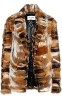 Saint Laurent Fox Fur Jacket - Lyst