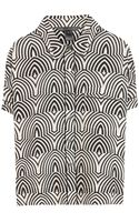 Marc By Marc Jacobs Gamma Print Silk Shirt - Lyst