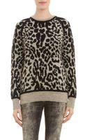 Iro Leopardpattern Doublefaced Sweater - Lyst