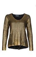 Line Knitwear Line After Party Metallic Sweater - Lyst