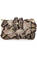 Alice + Olivia Embroidered Butterfly Clutch Bag - Lyst